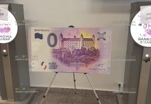 Словакия банкнота 0 евро Братиславский град с грамматической ошибкой