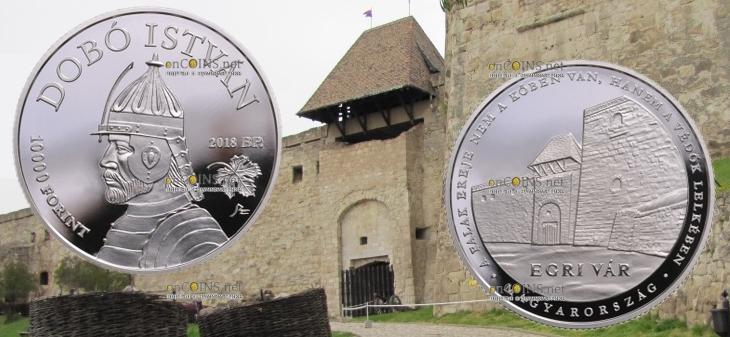 Венгрия монета 10000 форинтов Замок Эгера