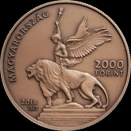 Венгрия монета 2000 форинтов Мемориал национального кладбища Керепеши, аверс