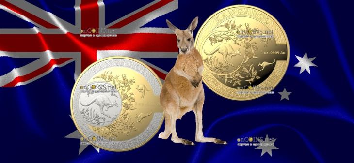 Австралия монета 10 долларов Кенгуру 2018 год