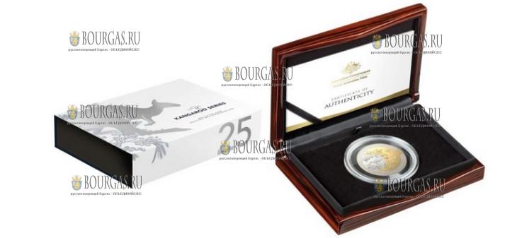 Австралия монета 100 долларов Кенгуру 2018 год, подарочная упаковка