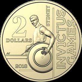 Австралия монета 2 доллара Игры Непокоренных Сидней 2018, реверс