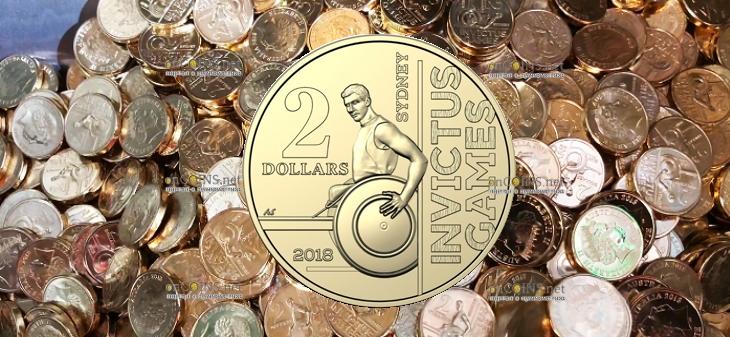 Австралия монета 2 доллара Игры Непокоренных Сидней 2018