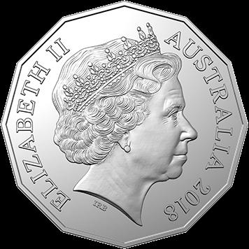 Австралия монета 50 центов Битва при Амьене, аверс