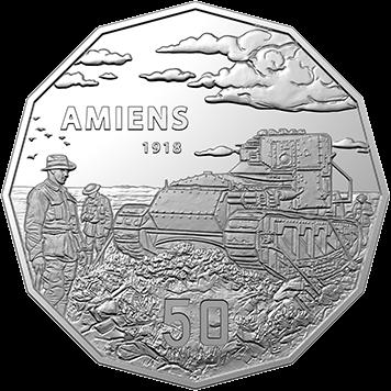 Австралия монета 50 центов Битва при Амьене, реверс