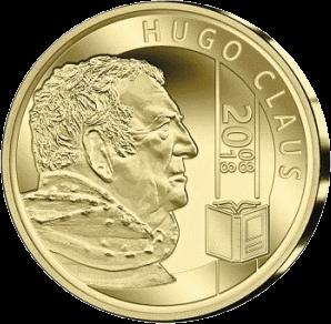 Бельгия монета 25 евро Хьюго Клаус, аверс