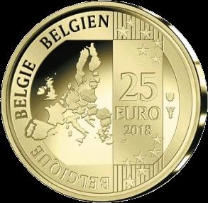 Бельгия монета 25 евро Хьюго Клаус, реверс