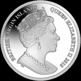 Британские Виргинские острова монета 1 доллар Чемпионат мира по футболу Россия 2018, аверс