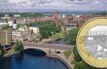 Финляндия монета 5 евро Таммеркоски