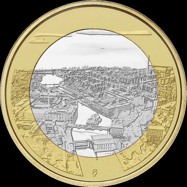 Финляндия монета 5 евро Таммеркоски, реверс