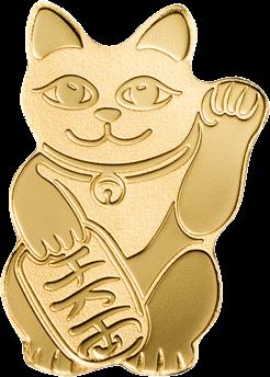 Государство-архипелаг Палау монета 1 доллар кот Манэки-нэко, реверс