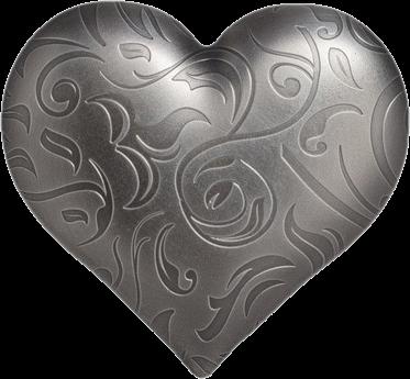 Государство-архипелаг Палау монета 5 долларов Серебряное сердце, реверс