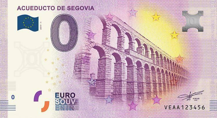 Испания банкнота 0 евро - Древнеримский акведук в Сеговии