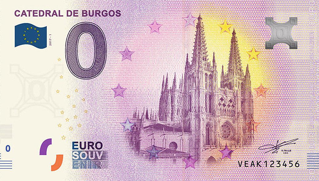 Испания банкнота 0 евро - Кафедральный собор Бургоса