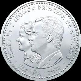 Испания монета 30 евро 1300 лет Королевству Астурия, аверс