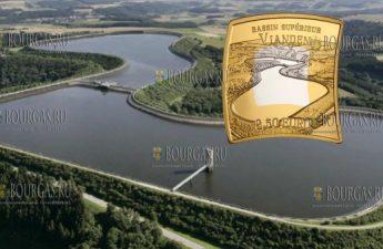 Люксембург монета 2.5 евро Виаденская ГЭС