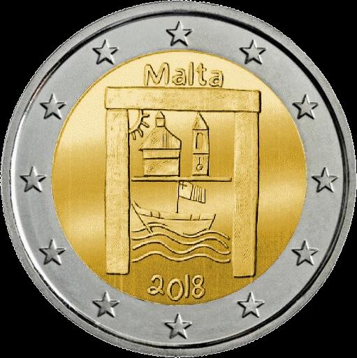 Мальта монета 2 евро Дети и солидарность, реверс