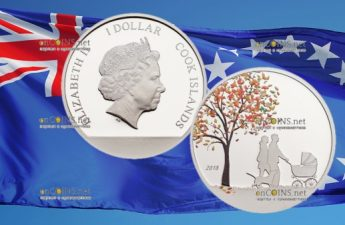 Острова Кука монета 1 доллар Индийская летняя монета