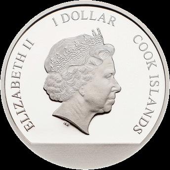 Острова Кука монета 1 доллар Индийская летняя монета, аверс