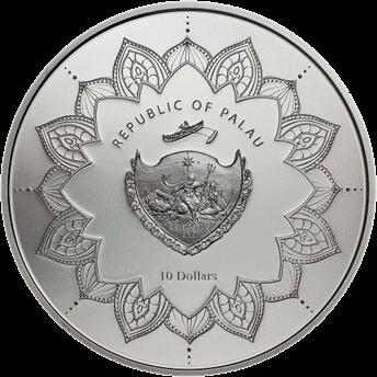 Палау монета 10 долларов Смеющийся Будда, аверс