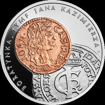 Польша монета 20 злотых монеты времен Яна Казимира Васа, аверс