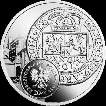 Польша монета 20 злотых монеты времен Яна Казимира Васа, реверс
