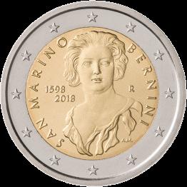 Сан-Марино монета 2 евро Джан Лоренцо Бернини, реверс
