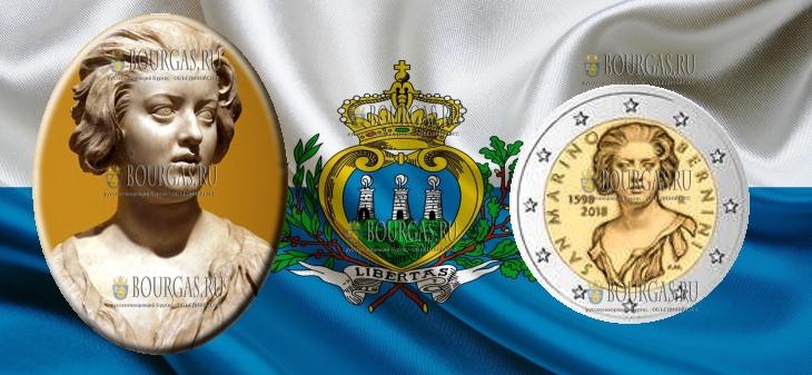 Сан-Марино монета 2 евро Джан Лоренцо Бернини