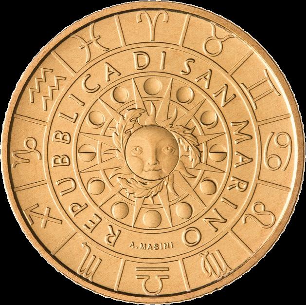 Сан-Марино монета 5 евро серии Знаки Зодиака, аверс