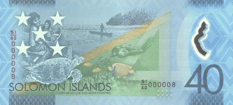Соломоновы Острова банкнота 40 долларов, оборотная сторона