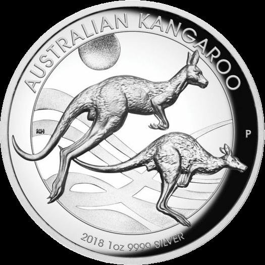 Австралия монета 1 доллар Кенгуру на закате, реверс