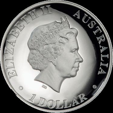 Австралия монета 1 доллар Клинохвостый орел, аверс