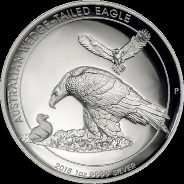 Австралия монета 1 доллар Клинохвостый орел, реверс