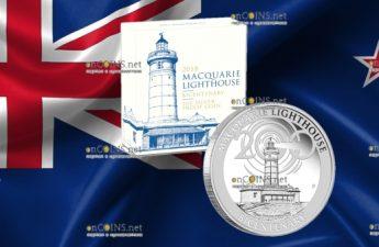 Австралия монета 1 доллар Маяк Маккуори