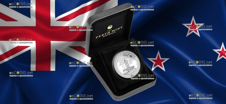 Австралия монета 1 доллар Маяк Маккуори, подарочная упаковка