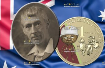 Австралия монета 1 доллар Волшебный пудинг