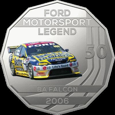 Австралия монета 50 центов BA Falcon 2006, реверс