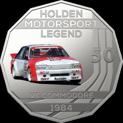 Австралия монета 50 центов Holden VK Commodore 1984, реверс