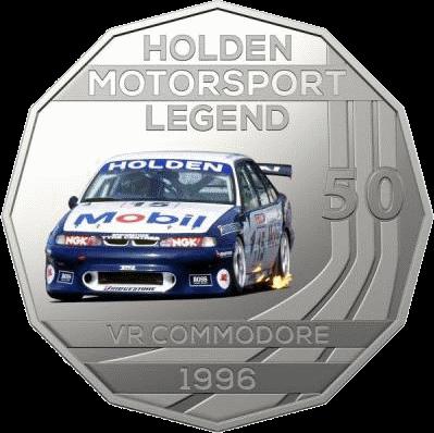 Австралия монета 50 центов Holden VR Commodore 1996, реверс