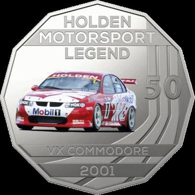 Австралия монета 50 центов Holden VX Commodore 2001, реверс