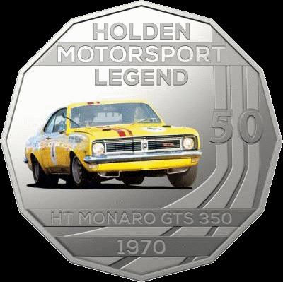 Австралия монета 50 центов HT Monaro GTS 350 1970, реверс