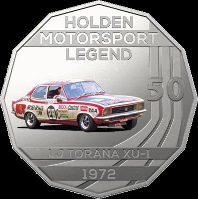 Австралия монета 50 центов LJ Torana XU-1 1972, реверс