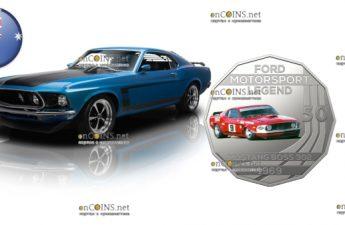 Австралия монета 50 центов Mustang BOSS 302 1969