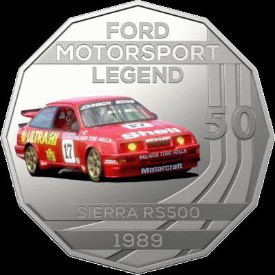 Австралия монета 50 центов Sierra RS500 1989, реверс