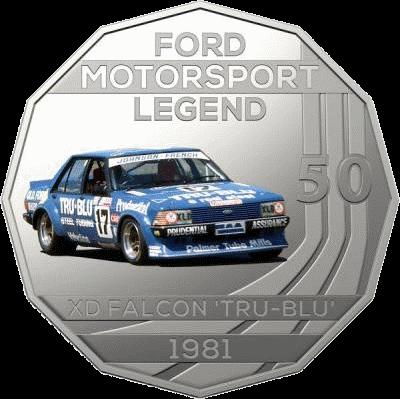 Австралия монета 50 центов XD Falcon TRU-BLU 1981, реверс