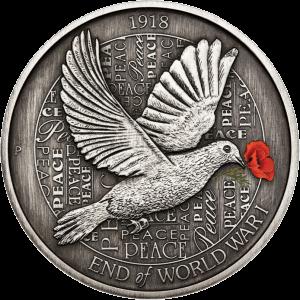 Австралия монета 8 долларов 100 лет окончания Первой мировой войны, реверс