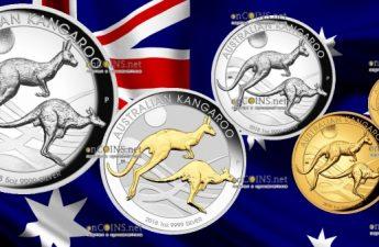 Австралия серия монет Кенгуру на закате