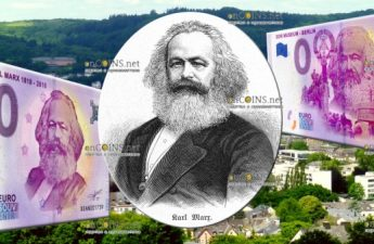 банкнота 0 евро Карл Маркс два варианта