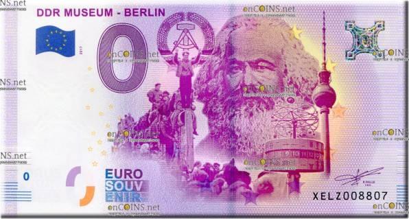 банкнота 0 евро Карл Маркс Музей в Берлине