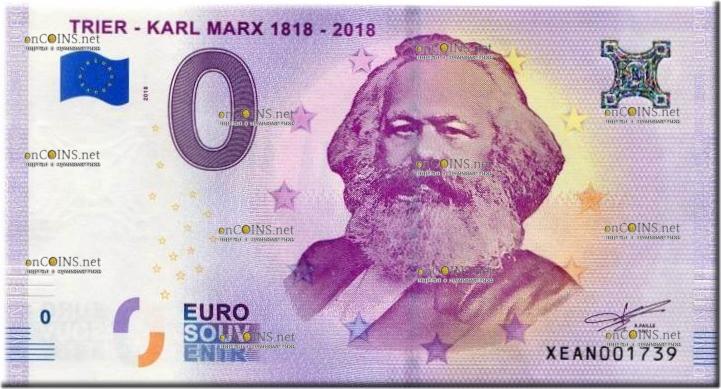 банкнота 0 евро Карл Маркс Триер